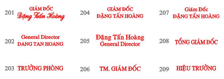 Dịch vụ khắc dấu chức danh tại Đà Nẵng giá rẻ